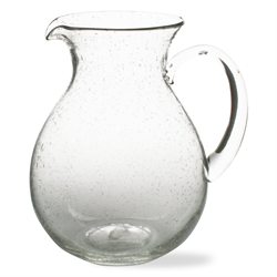 tag   Pitcher Bubble Glass $35.00