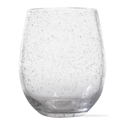Tag   Wine Glass Stemless Bubble Glass $10.50