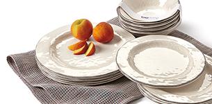 Tag   Ivory Melamine Dinner Plate $13.50