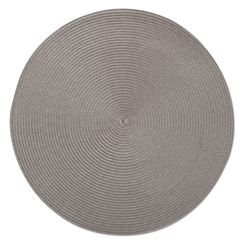 Tag   Placemat Round Woven Gray $5.00