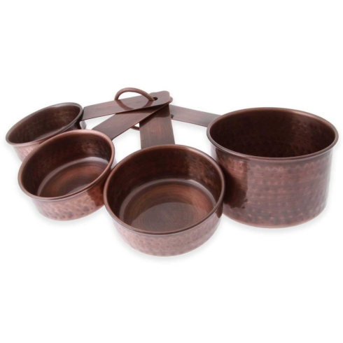Plum Southern Exclusives   Hammered Copper Measuring Cups $23.00