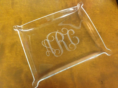 Large Engraved Acrylic Nesting Tray