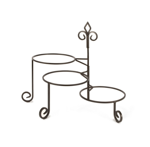 Plum Southern Exclusives   Plate Stand 3-Tier Swivel $39.00