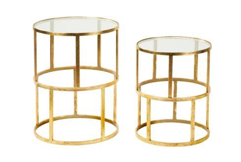 $175.00 Gold Accent Table - Large