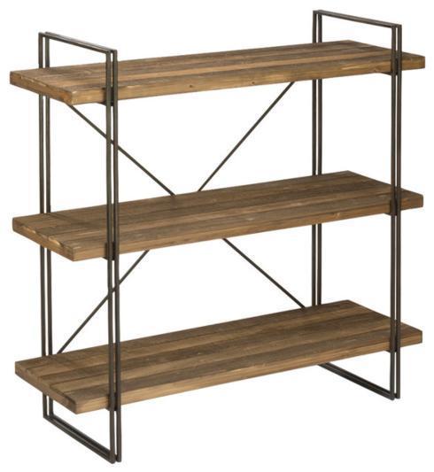 $375.00 Wood & Metal Bookcase