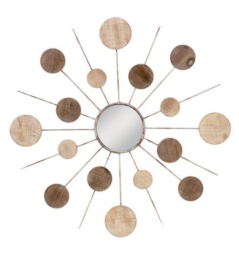 $112.50 Mirror - Starburst Wood