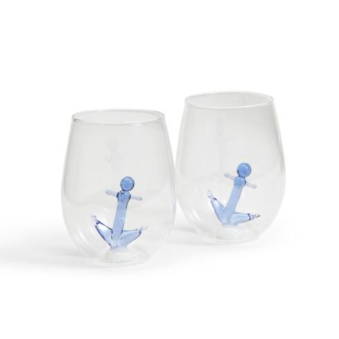 Two\'s Company   Wine Glass - Stemless Anchor $21.50