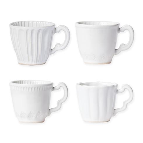 $43.00 Vietri - Incanto Stone White Mugs Assorted