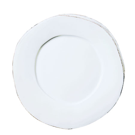 Vietri Lastra European Dinner Plate (white) collection with 1 products