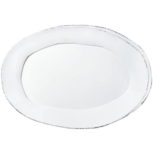 Lastra Oval Platter (white) collection with 1 products