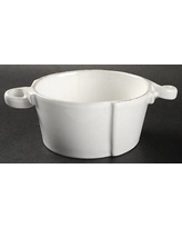 $55.00 Lastra Small handled Bowl (white)