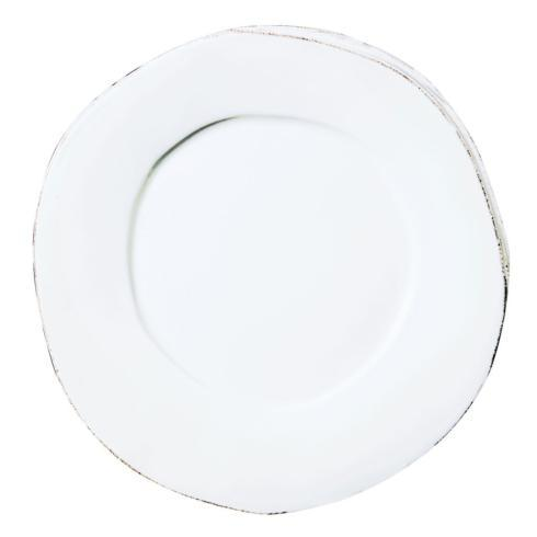 $44.00 Vietri Lastra Dinner Plate (white)