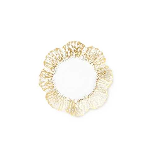Plum Southern Exclusives   Vietri Ruffle Canape (gold) $22.00