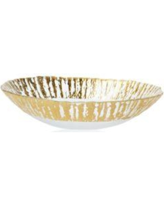 Vietri Ruffle Gold Medium Serving Bowl collection with 1 products