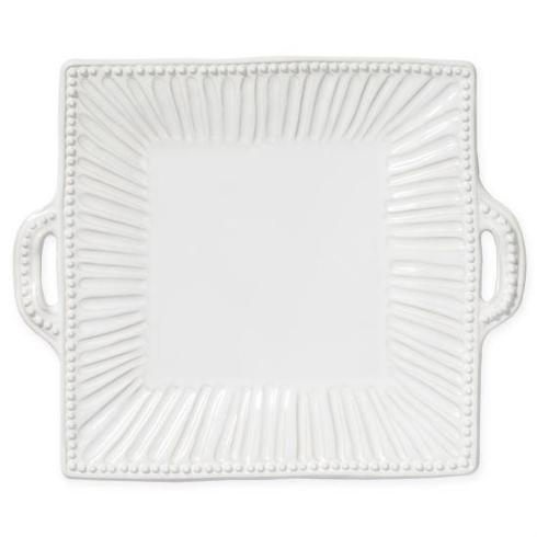 Plum Southern Exclusives   Vietri - Incanto Stone - White Square Platter Handled $169.00