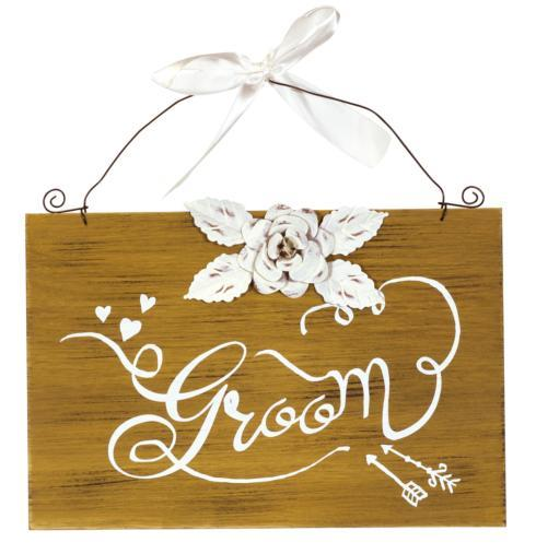 Plum Southern Exclusives   Groom Sign $14.99