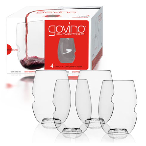 $19.95 Wine Glass - Set4, 16oz., Shatterproof, Stemless