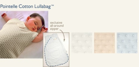 $40.00 Lullabag Sm Pointelle White