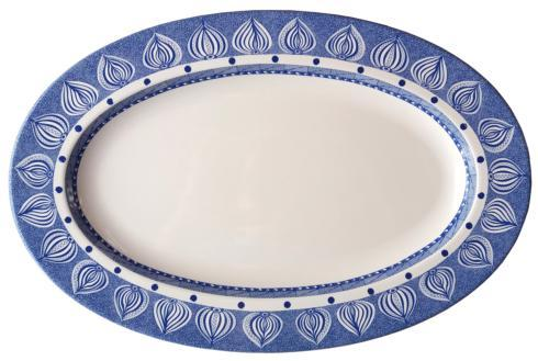 "$78.00 Oval Platter 15.5"" Blue"
