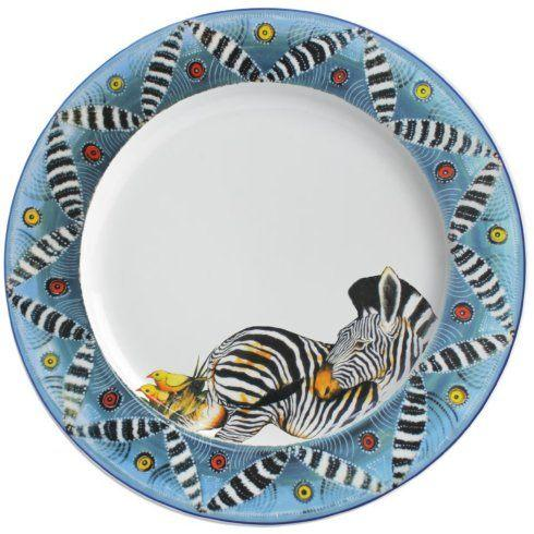 "$44.00 Salad/Luncheon Plate 9"" Zebra"