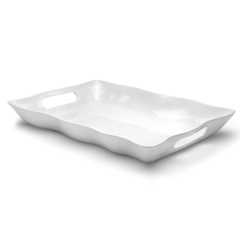 Q Squared  White Rectangle Tray $48.00