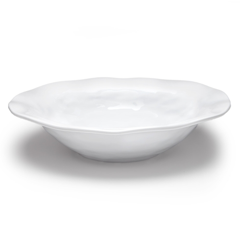 "Q Squared Ruffle Serveware 14"" Round Shallow Serving Bowl $46.00"