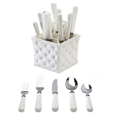 $56.00 White 20pc Set with Caddy
