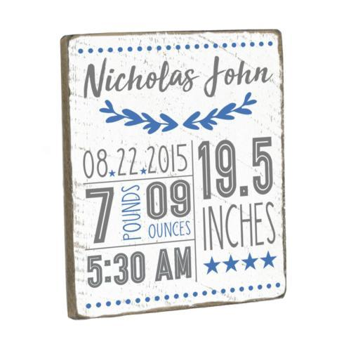 $65.00 Personalized Birth Announcement - Blue
