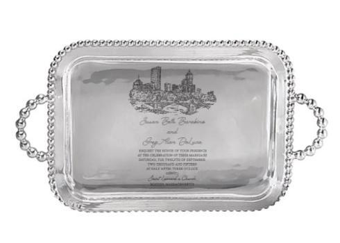 $188.00 Mariposa Medium Service Tray with Wedding Invitation Scan