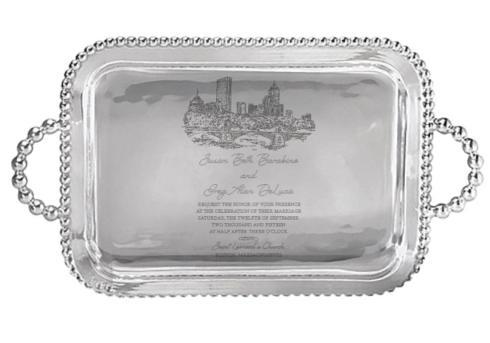 $269.00 Mariposa service Tray Large with Wedding Invitation Scan
