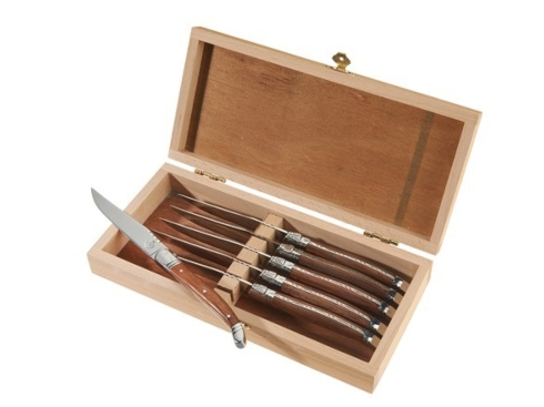 6 Laguiole Rosewood handle knives