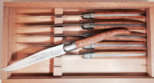 $200.00 6 Laguiole knives - Olive wood handles