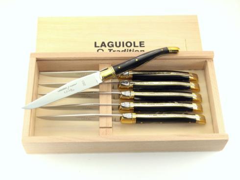 $200.00 6 Laguiole  forks - Black horn handles