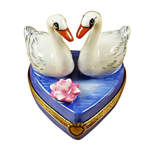 $329.00 Two Swans On Heart