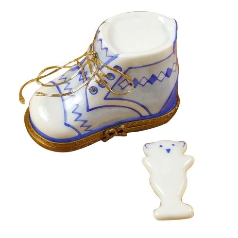 $159.00 Baby Shoe W/Plaque Blue