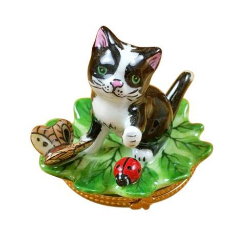 $299.00 Cat on Leaf with Ladybug & Butterfly