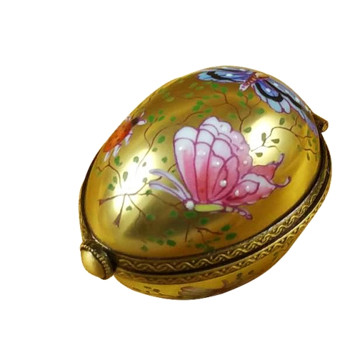$259.00 Egg Decor Butterfly On Gold Base