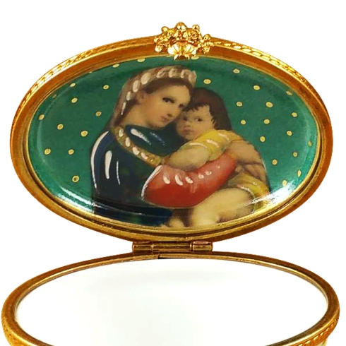 $289.00 STUDIO COLLECTION - OVAL TURQUOISE FLOWER - MOTHER & CHILD