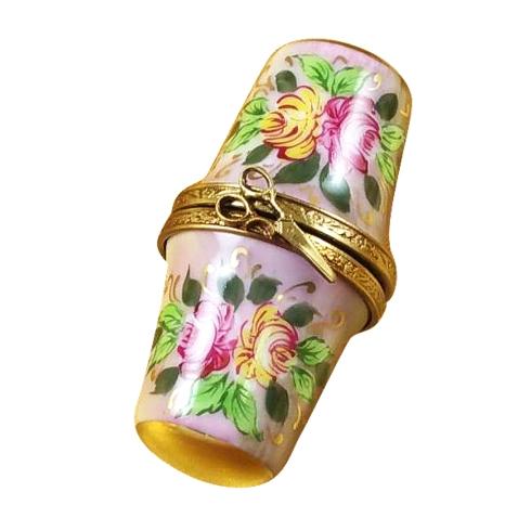 $119.00 Floral Thimble Box