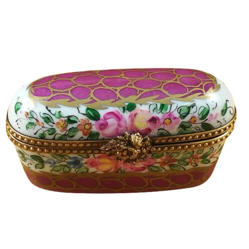 $119.00 Oblong Burgundy With Flowers
