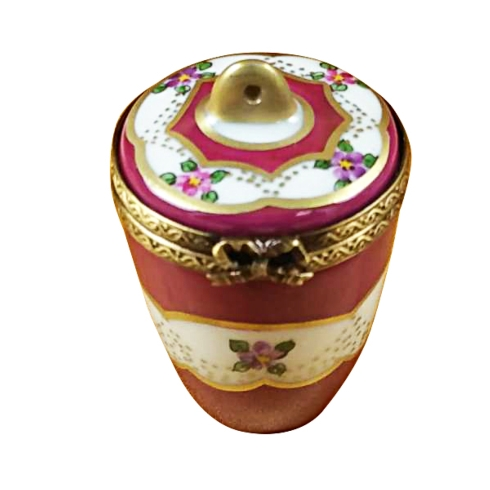 $149.00 Burgundy Urn With Gold Handle