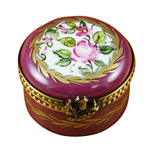 $149.00 Burgundy Round With Flowers
