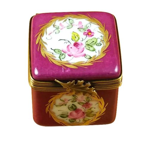 $149.00 Burgundy Square W/Flowers