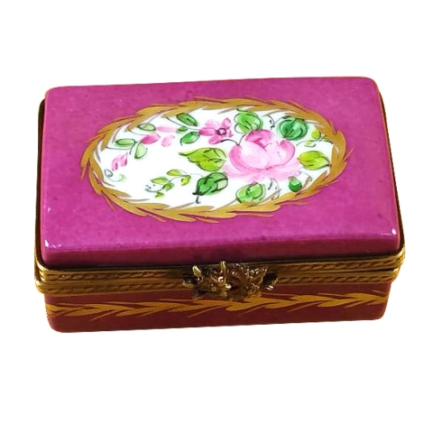 $149.00 Burgundy Rectangle With Flowers