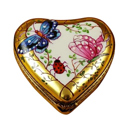 $259.00 Heart-Butterfly On Gold Base