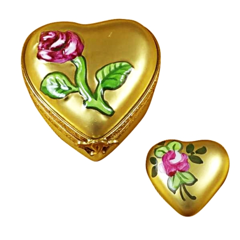 $239.00 Heart - Gold Rose