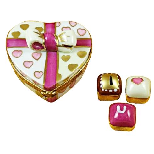 $259.00 PINK HEART WITH THREE CHOCOLATES