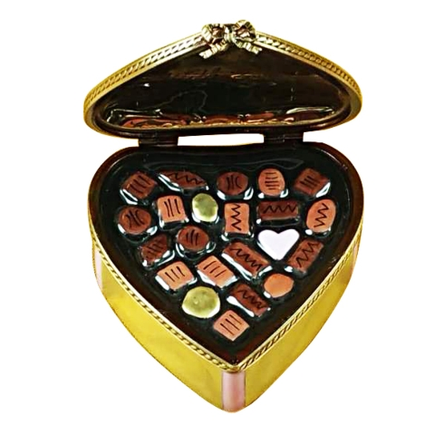 $159.00 Gold Heart W/Pink Bow & Chocolates