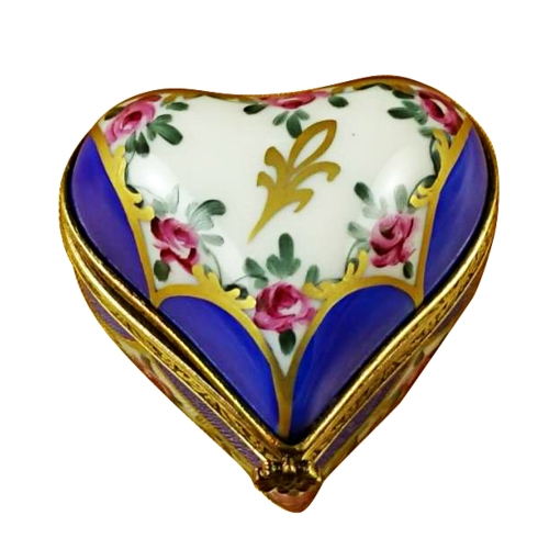 BLUE HEART WITH FLOWERS image