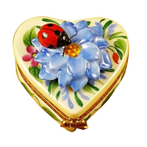 Heart Blue Flower W/Ladybug image